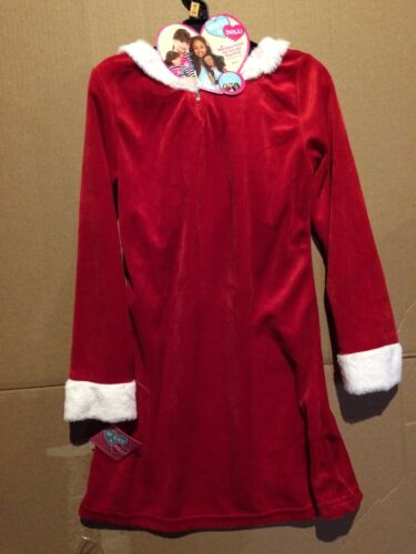 """/""""What A Doll/"""" Girls Christmas Dress With Matching Style Doll Dress Size 6//6X"""