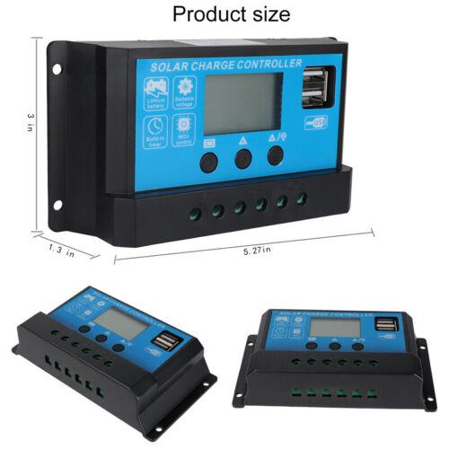 4Pack 60A MPPT Solar Charge Controller Panel Battery Regulator 12//24V Dual USB