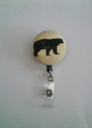 Bear Retractable Reel ID Badge Holder RN LPN CNA Nurse DR TECH VET