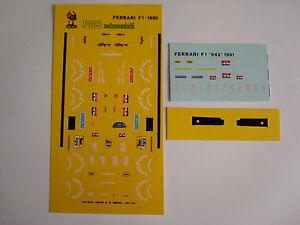 DECALS-F1-KIT-FERRARI-642-F1-GP-PHOENIX-1991-PROST-ALESI-DECALS
