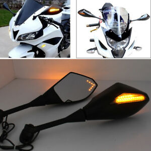 Details About Black Integrated Mirrors For Honda Cbr 600 Rr 2004 2005 2006 2007 2008 2009 2010