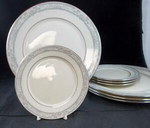 Lenox-CHARLESTON-4-Dinner-Plates-4-Bread-amp-Butters-GOOD-CONDITION-mfg-2nds