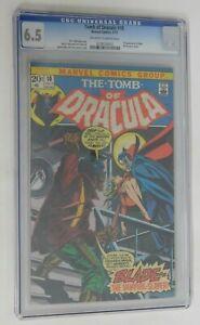 TOMB OF DRACULA #10 - CGC 6.5 - Blade 1st Appearance - 1973 Marvel Vintage Comic