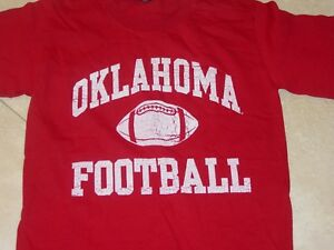 lowest price fb877 a2238 Details about University OKLAHOMA SOONERS FOOTBALL T-Shirt NEW sz.... SMALL