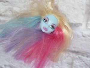Mattel-Monster-High-Doll-ABBEY-BOMINABLE-Replacement-HEAD-ONLY-for-OOAK-Custom
