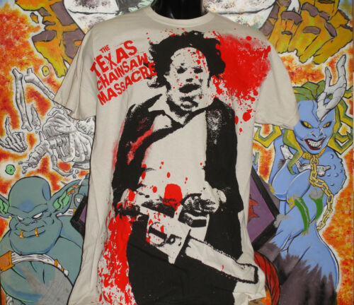 """Texas Chainsaw Massacre /""""Leatherface Spatter/"""" shirt Leatherface Choptop Horror"""