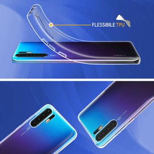 6fbe3e1e47 Luxury Slim Clear Soft Silicone TPU Case Cover For Huawei P30 Pro Y9 ...