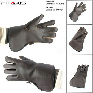Children-Eagle-Falconry-Nubuck-Leather-Hunting-Birds-hawk-Single-Layer-Gloves