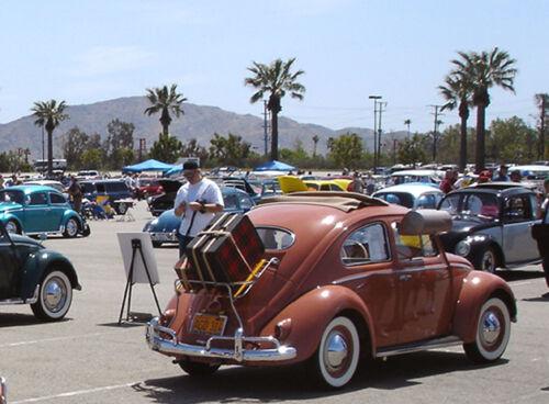 VW TYPE 1 BUG 1955-1967 SEDAN REAR DECK LID WOOD SLAT LUGGAGE RACK