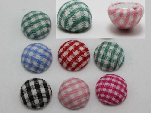 50 Mixed Color Fabric Covered Round Flatback Half Ball Cabachons 11mm 15mm Craft