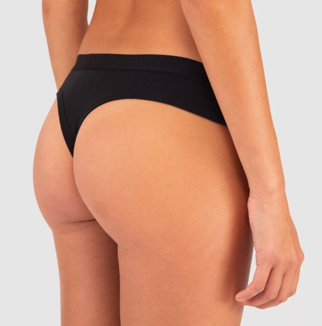 Wander by Hottotties Women/'s Scallop Nova Black Thong Panties Underwear QTY 2pr