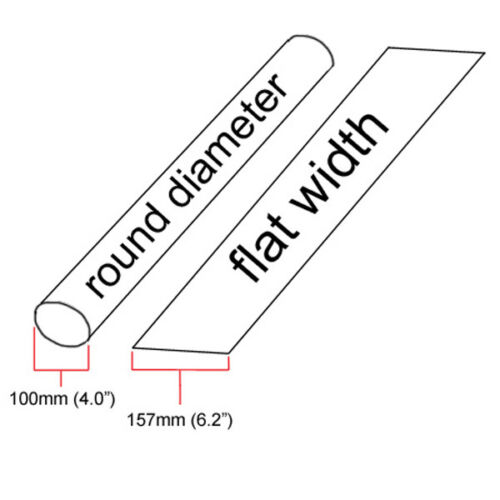 """8 inches 4/"""" ID Red Heat Shrink Tube 2:1 ratio 4.0/"""" wrap foot//ft//to 100mm"""