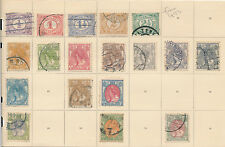 Netherlands Holland stamp collection on album page from 1893 some MH