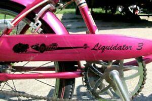 Black-Huffy-RAIL-034-Liquidator-3-034-Drag-Car-STICKER-for-Banana-Muscle-Bike-Bicycle