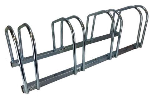 4 Bike Bicycle Stand Parking Garage Storage Organizer Cycling Rack Silver