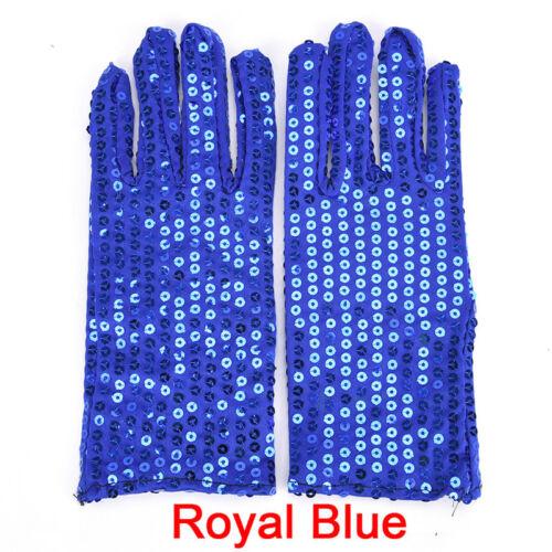 Kids Shining Sequin Sequined Glitter Dance Party Fancy Costume Gloves Fj