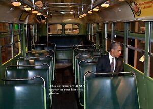 Rosa Parks Bus Barack Obama PHOTO Civil Rights Icon Black President