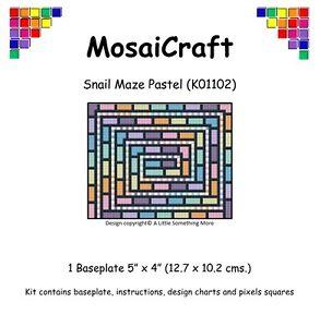 MosaiCraft-Pixel-Craft-Mosaic-Kit-039-Snail-Maze-Pastel-039-Pixelhobby
