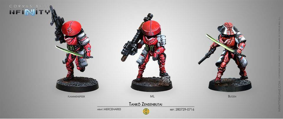 Infinity Tanko Zensenbutai Mercenaries box metal new