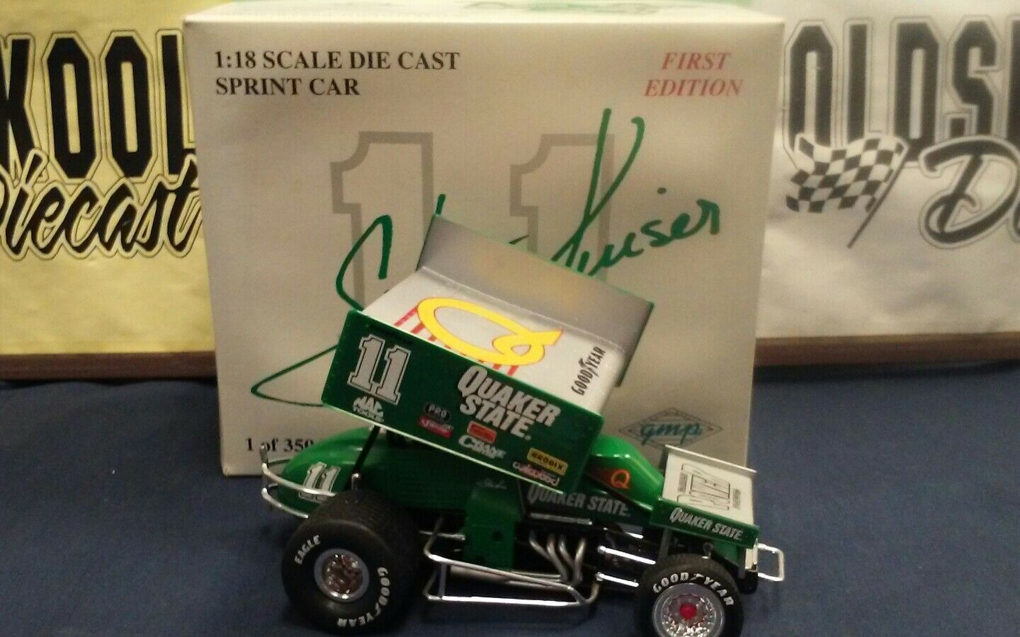 STEVE KINSER  11 1997 QUAKER STATE FIRST EDITION GMP 1 18 Sprint Car