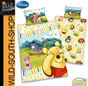 disneys winnie the pooh flanell baby bettw sche 40x60 100x135 100 bw biber neu ebay. Black Bedroom Furniture Sets. Home Design Ideas