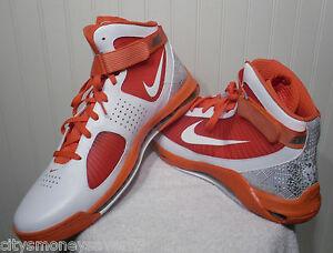 ab7fe362b3cd NEW Nike Hypermax TB Mens Basketball Shoes 18 White Orange MSRP 140 ...