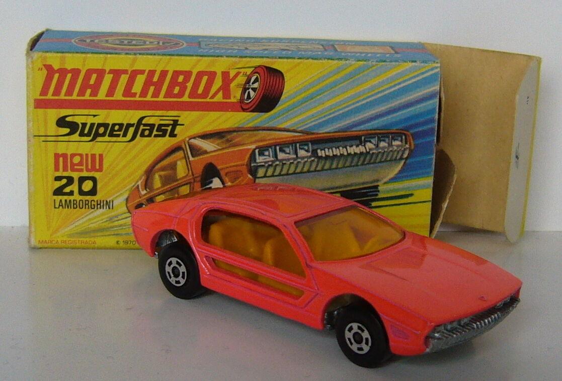 Matchbox-Superfast-MB 20 Lamborghini Marzal-lachsfaben-OVP -