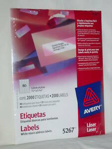 avery white return address laser labels 5267 package 2000 new fast