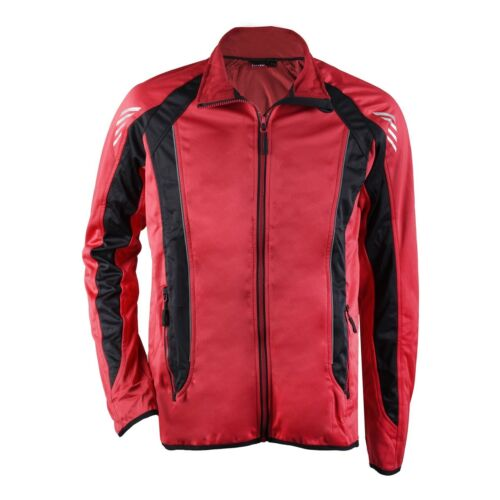 Softshell veste vélo veste pour homme en rouge//noir oeko-tex examiné