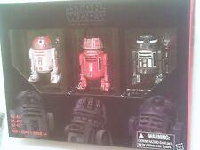 """Star Wars 6"""" Black Series Droid Pack x3 R2-A3 R5-K6 R2-F2 BRAND NEW"""