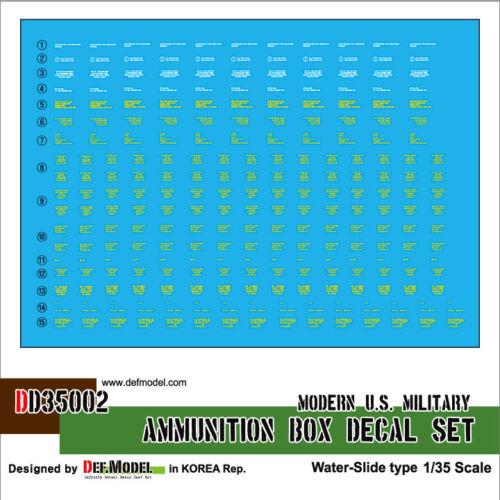 DEF.MODEL DD35002 1:35 US Modern Ammunition Box decal set