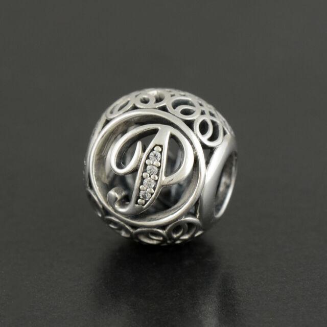 New Authentic Pandora Charm Letter P  791860cz P