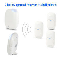 Wireless Visitor Door Bell Chime Ringer Waterproof 36 Melody Match 3 Bell Pushes