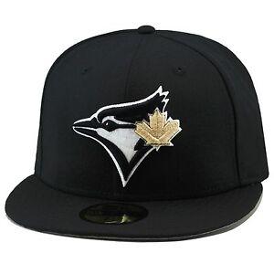 4444b087b New Era Toronto Blue Jays Fitted Hat BLACK/GOLD LEAF For jordan ...