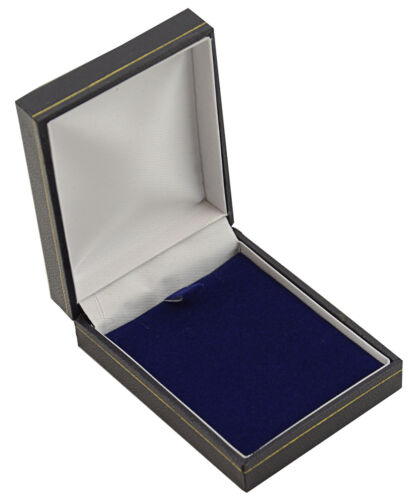 10 Blue Leatherette Pendant Drop Earring Boxes Jewellery Wholsesale Box Supplies