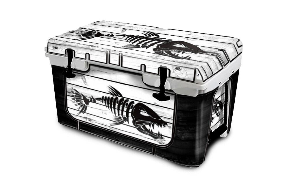 USATuff Cooler Wrap  Decal 'Fits New Mold' RTIC 65QT FULL BoneFish WD White  buy cheap