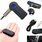 3.5mm Audio Music Car Adapter Receiver USB Mini Bluetooth Wireless Aux Stereo FT