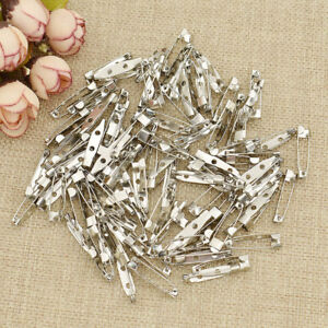 100pcs Multicolor Brooch Pin Locking Safety Latch Clasp Fashion Jewelry Making