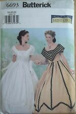 UNCUT Misses/' Size 6 8 10 12 14 Butterick Sewing Pattern B6646 Victorian 2-Piece Ball Gown 3 Tier Full Skirt 1800/'s Summer Dress Bodice