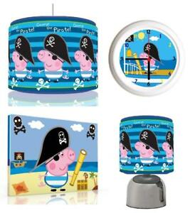 Peppa pig george pirate bundle light shadetouch lampclock canvas image is loading peppa pig george pirate bundle light shade touch aloadofball Choice Image