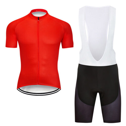 Mens Cycling Short Sleeve Jerseys Bib Shorts Set Bicycle Shirts Sports 3D Padded
