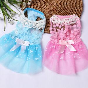 Summer-Dog-Dress-Pet-Clothes-Lace-Wedding-Princess-Skirt-Teddy-Puppy-Cat-Vest