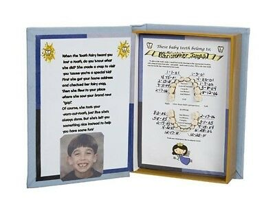Baby Tooth Keepsake Book For Boys Bright And Translucent In Appearance