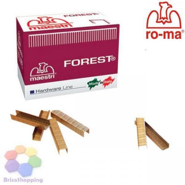 AGRAFES MASTERS POINTS BROCHES ROCAMA 110 ROME 5000 BANC BROCHES FORÊT AGRAFEUSE