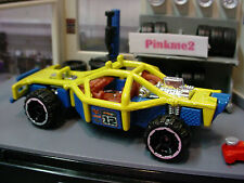 2010 Hot Wheels Jungle Rally Exclusive ROLL CAGE ☆ Yellow/Blue; 12 ☆ loose
