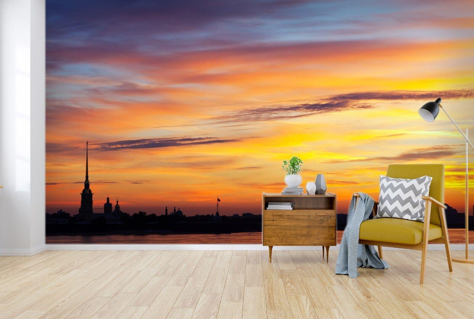 3D Sunset Clouds Sky 562 Wallpaper Murals Wall Print Wallpaper Mural AJ WALL UK