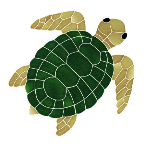 Turtles Natural /& Green Mosaic Ceramic Tiles Swimming Pool bath shower wall art