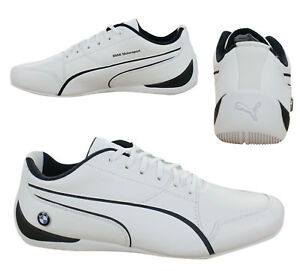 Puma BMW Motorsport Drift Cat 7 Lace Up Mens Trainers White 305986 ... e5b1a31fb