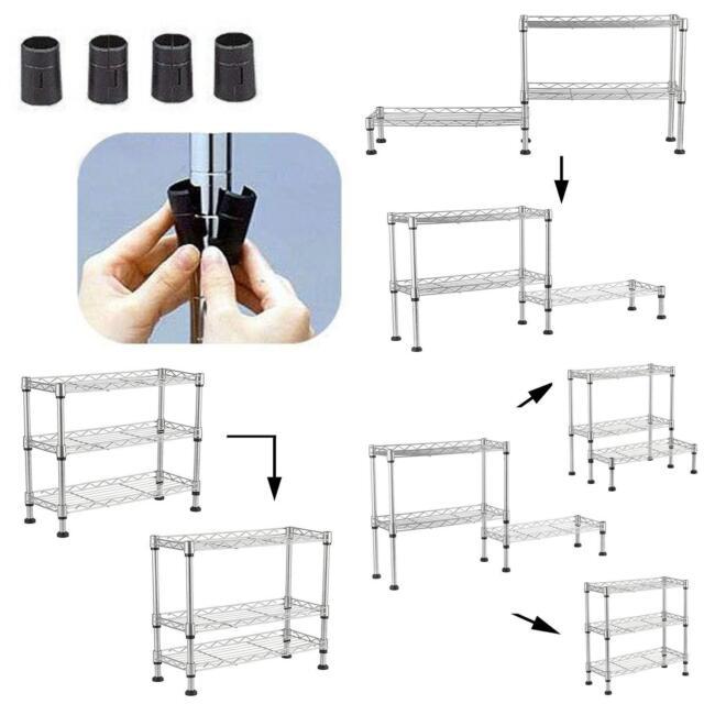 Chrome Shelf Steel Wire Tier Layer Shelving Storage Rack Heavy Duty Steel Rack