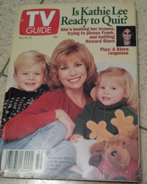 Kathie Lee Gifford TV Guide December 16 1995 Like New Condition